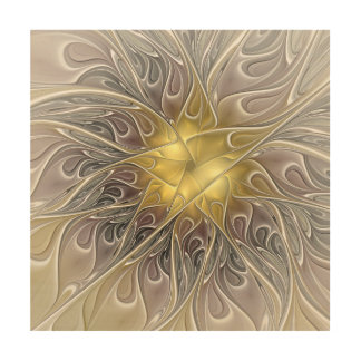 Impression Sur Bois Flourish avec la fleur abstraite moderne de