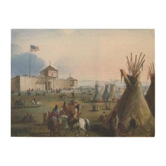 Impression Sur Bois Fort Laramie, fort de Sublette, Fort William,