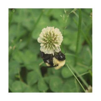 Impression Sur Bois Gaffez l'abeille, copie en bois de photo
