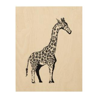 Impression Sur Bois Girafe