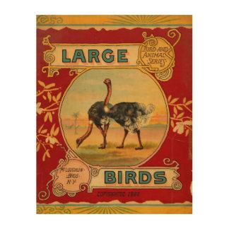 Impression Sur Bois Grands oiseaux