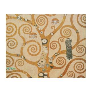 Impression Sur Bois Gustav Klimt l'arbre de l'art Nouveau de la vie
