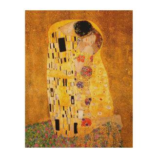 "Impression Sur Bois Gustav Klimt ""le baiser """