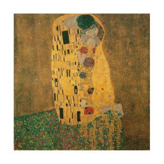 Impression Sur Bois Gustav Klimt le cru de GalleryHD de baiser