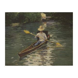 Impression Sur Bois Gustave Caillebotte - canoë sur le Yerres