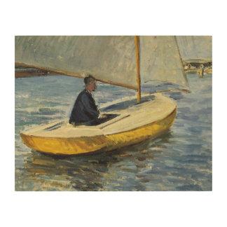 Impression Sur Bois Gustave Caillebotte - le bateau jaune