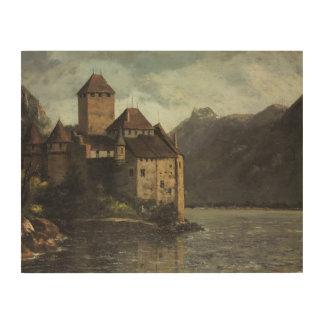 Impression Sur Bois Gustave Courbet - château de Chillon
