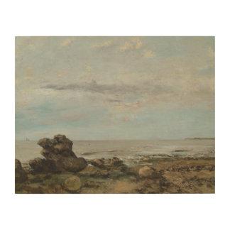 Impression Sur Bois Gustave Courbet - la plage chez Trouville