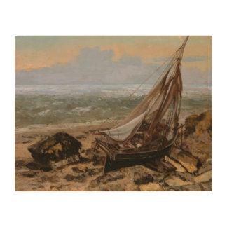 Impression Sur Bois Gustave Courbet - le bateau de pêche
