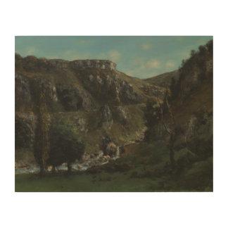 Impression Sur Bois Gustave Courbet - vallée de Laloue