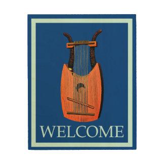 Impression Sur Bois Harp du Roi David - accueil