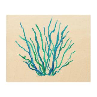 Impression Sur Bois Herbe bleue de mer