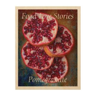 Impression Sur Bois Histoires d'amour juteuses de nourriture de