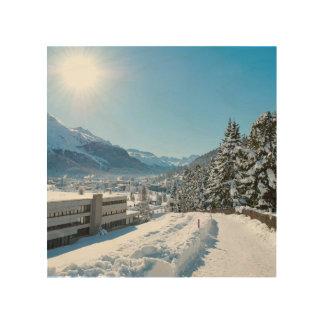 Impression Sur Bois Hiver à St Moritz