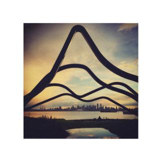 Impression Sur Bois Horizon de Vancouver