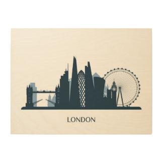 Impression Sur Bois Horizon de ville de Londres