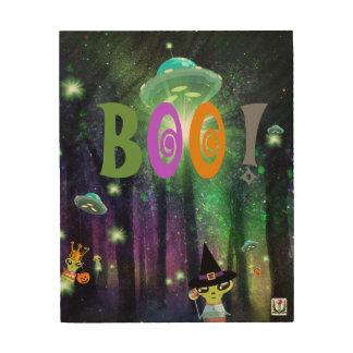 Impression Sur Bois Illustration 53086C1 de Seekie Halloweenie de FD