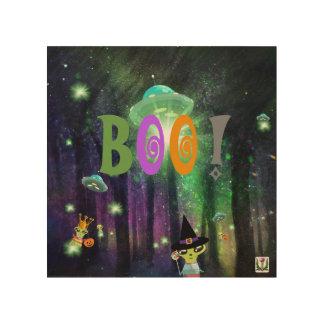 Impression Sur Bois Illustration 53086C2 de Seekie Halloweenie de FD