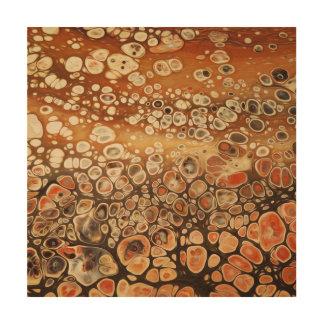 Impression Sur Bois Illustration de fluide de cellules