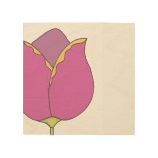 Impression Sur Bois Illustration de tulipe