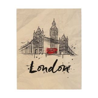Impression Sur Bois Illustration sensationnelle de Londres, Angleterre