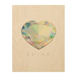 Impression Sur Bois Inspiration de coeur de diamant