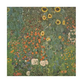 Impression Sur Bois Jardin de ferme de Gustav Klimt avec des