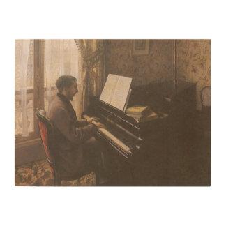 Impression Sur Bois Jeune homme jouant le piano par Gustave