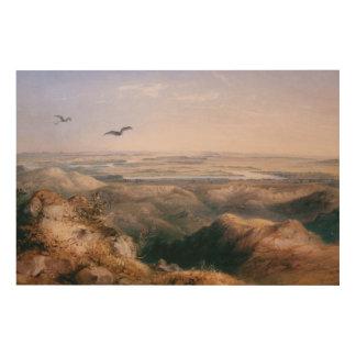 Impression Sur Bois Jonction du Yellowstone et du Missouri par Bodmer