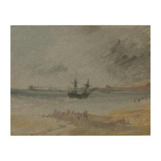 Impression Sur Bois Joseph Mallord William Turner - bateau échoué