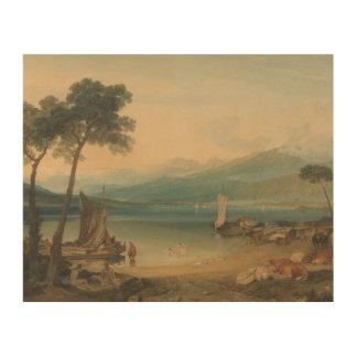 Impression Sur Bois Joseph Mallord William Turner - Lac Léman