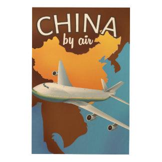 Impression Sur Bois La Chine par l'affiche de transports aériens