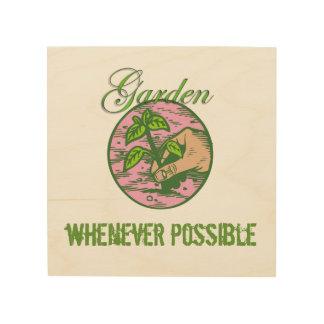 Impression Sur Bois La croyance du jardinier