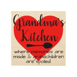 Impression Sur Bois la cuisine de la grand-maman