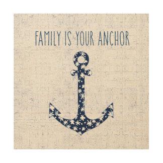 Impression Sur Bois La famille nautique de la citation | est votre