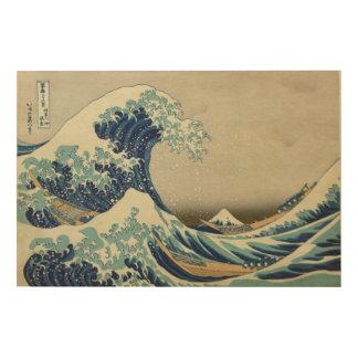 Impression Sur Bois La grande vague outre du 葛飾北斎 de Kanagawa - de