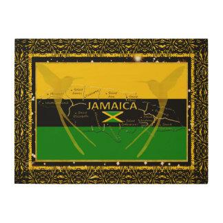 Impression Sur Bois La Jamaïque colore le mur en bois Art1 de colibri
