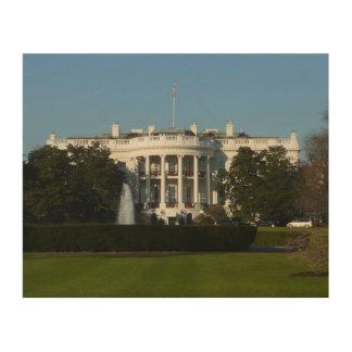 Impression Sur Bois La Maison Blanche de Noël pour le Washington DC de