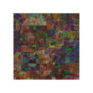 Impression Sur Bois La mosaïque entoure l'art de mur