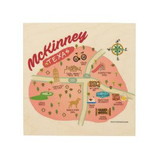 Impression Sur Bois La plaque de mur de McKinney le Texas
