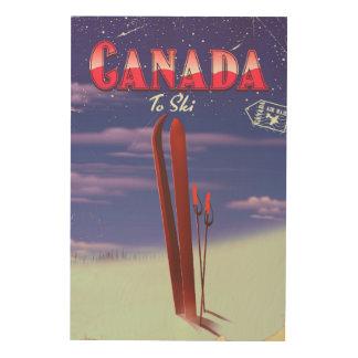 Impression Sur Bois La poste aérienne du Canada à skier illustration