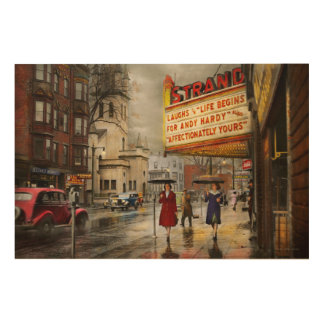 Impression Sur Bois La ville - Amsterdam NY - la vie commence 1941