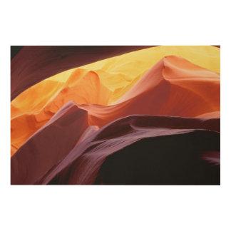 Impression Sur Bois L'Arizona, formations de grès du canyon | de Paria