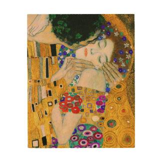 Impression Sur Bois Le baiser par Gustav Klimt
