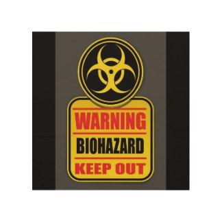 Impression Sur Bois Le Biohazard d'avertissement empêchent d'entrer le