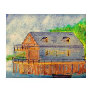 Impression Sur Bois Le Boathouse