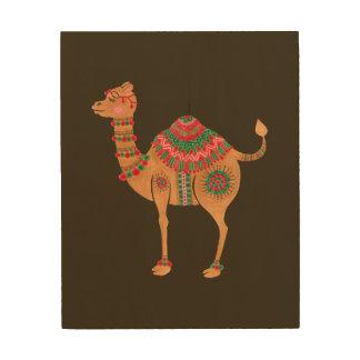 Impression Sur Bois Le chameau ethnique