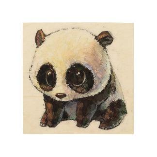 Impression Sur Bois le meilleur panda noir et blanc mignon et avec du