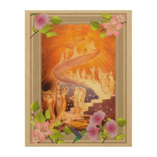Impression Sur Bois Le rêve de Jacob par William Blake