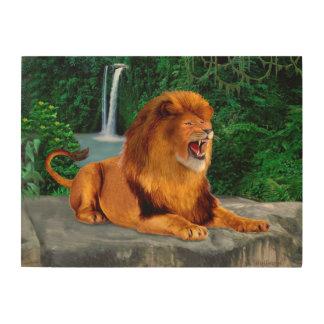 Impression Sur Bois Le roi d'hurlement de lion